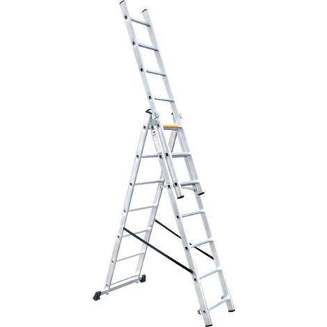 Escalera Aluminio Extensible Tripla - 3x7, 4.24 M - MADER