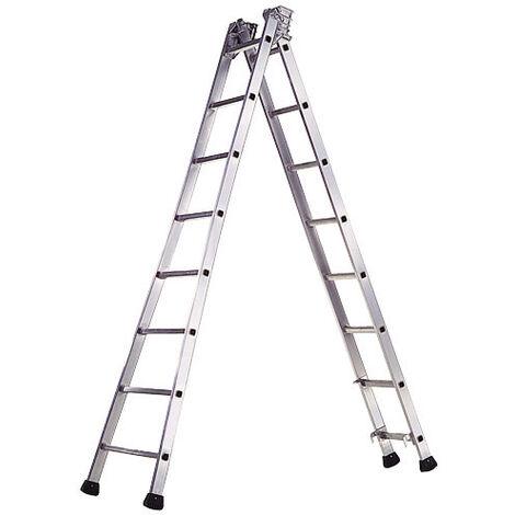 Escalera Aluminio Industrial Pronor 2 Tramos 14+14 Peldaños