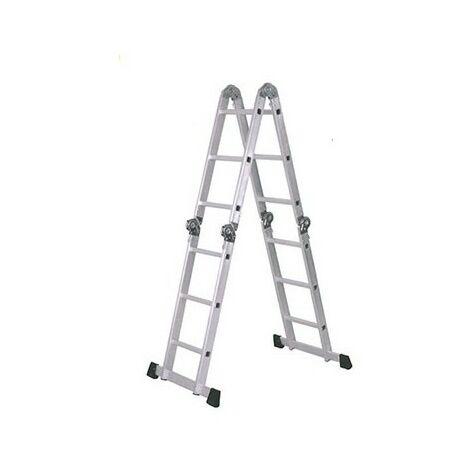 Escalera aluminio multifuncion 4x4 peld.