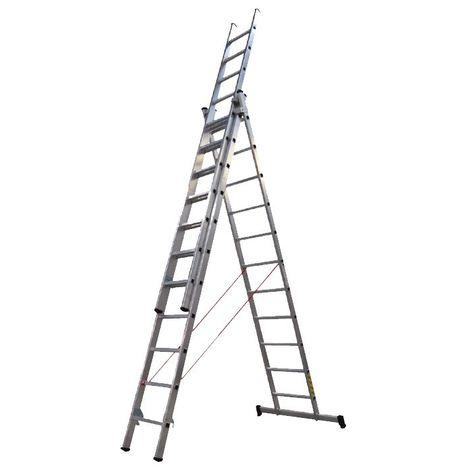 Escalera aluminio prof. con base 3x11