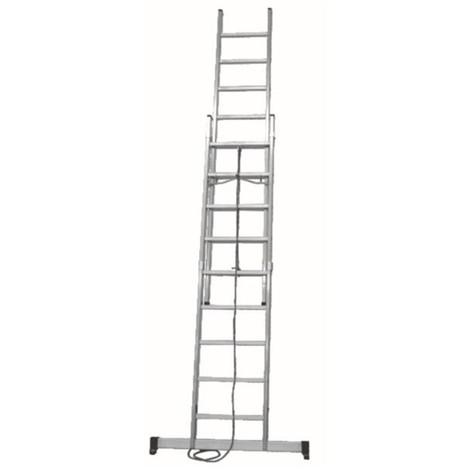 Escalera aluminio profesional c/base 2x9