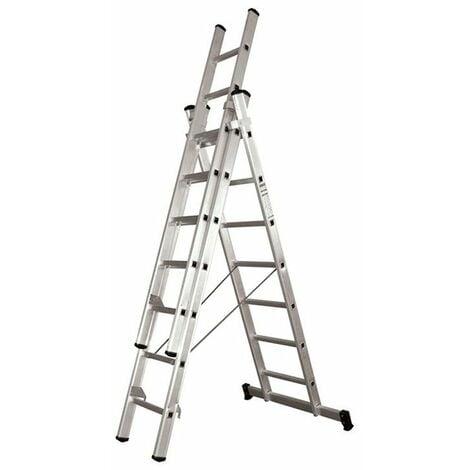 Escalera aluminio profesional c/base 3x7