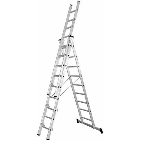 Escalera aluminio profesional c/base 3x9