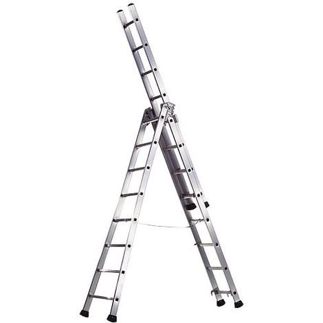 Escalera Aluminio Pronor 8+8+8 Profesional