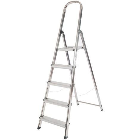 Escalera Aluminio Unica 5 Peldaños - ROLSER - Uni003