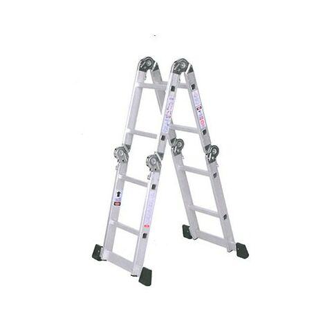 Escalera aluminio multifuncion 4x2 peld.
