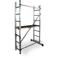 Escalera - Andamio profesional de Aluminio MULTIUSOS 2 x 7 peldaños