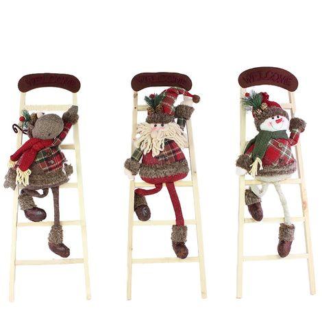 Escalera con muñecos Navidad 65 cm