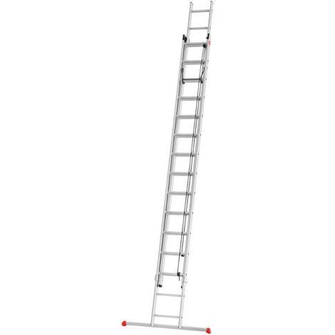 Escalera corredera con cuerda 2 tramos - aluminio - ProfiStep® duo - P7-01-006-V01