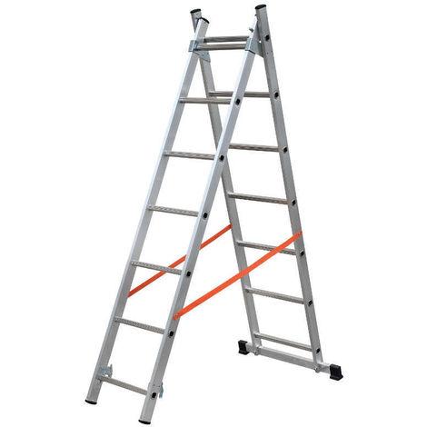Escalera de 2 tramos combinada de aluminio - Modula