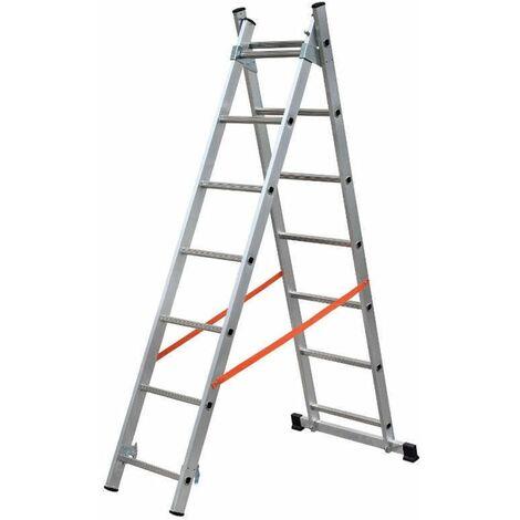 Escalera de 2 tramos combinada de aluminio - Modula - gierre_AL305