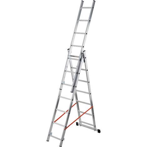 Escalera de 3 tramos combinada de aluminio - Modula - gierre_AL405