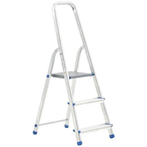 Escalera de aluminio 3 peldanos 150 kg