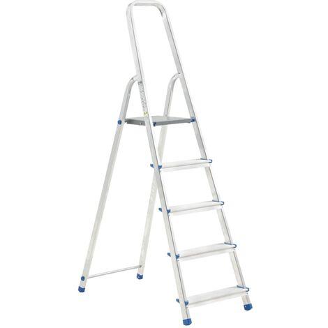 Escalera de aluminio 5 peldaños 150 kg