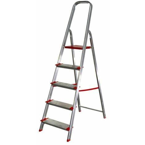 Escalera de aluminio 5 peldaños anchos