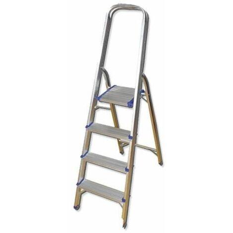 Escalera de aluminio con 4 peldaños JBM