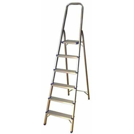 Escalera de aluminio con 6 peldaños JBM