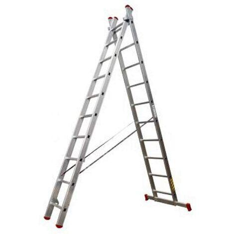 Escalera de aluminio Doble 2,5+2,5 m