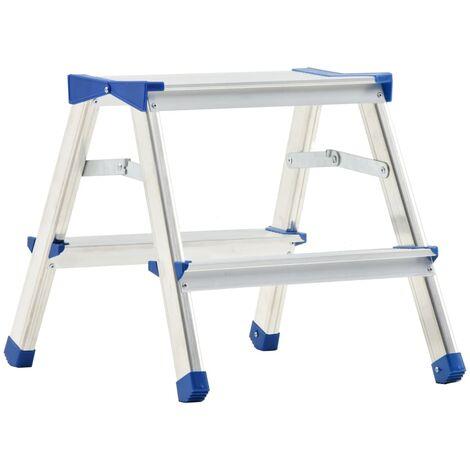 Escalera de aluminio doble cara 2 peldaños 44 cm