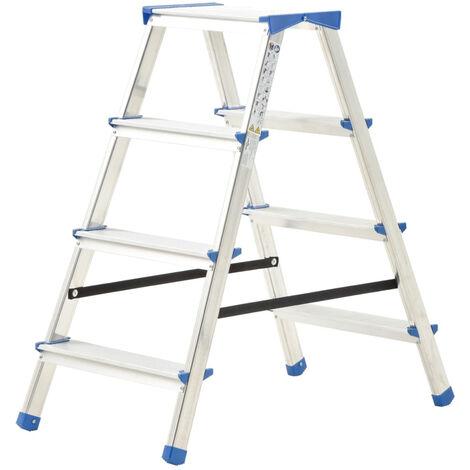 Escalera de aluminio doble cara 4 peldanos 90 cm