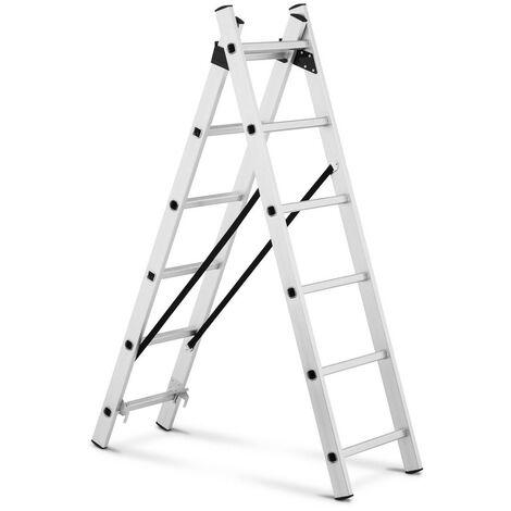 Escalera De Aluminio Multifunción Con 12 Escalones Altura Regulable Hasta 2,54 m