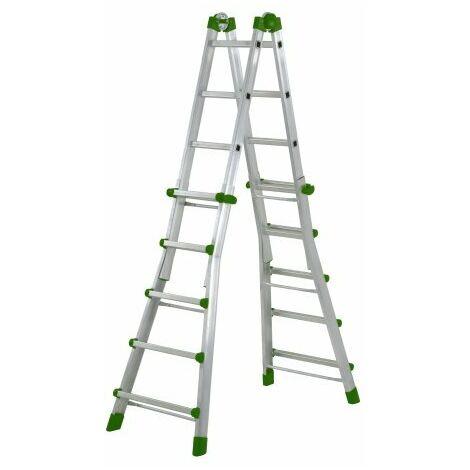 Escalera de aluminio multiusos Codiforte AL-40 5+5 Peldaños