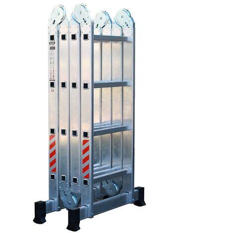 Escalera de Aluminio Plegable Multifuncional 4x4 (16 Peldaños)