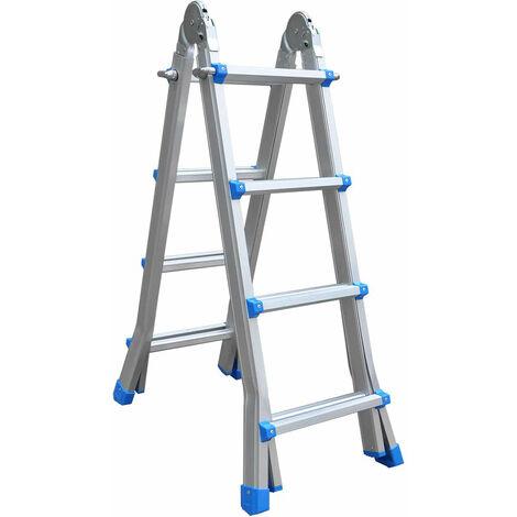 Escalera de Aluminio Profesional Articulada Catter House Multiusos 4x4 Altura Máxima de Trabajo 540 cm