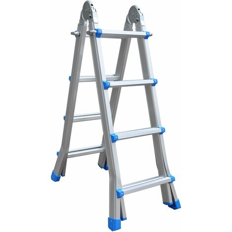 Escalera de Aluminio Telescópica Articulada Catter House Multiusos 4x4 20x48x122 cm