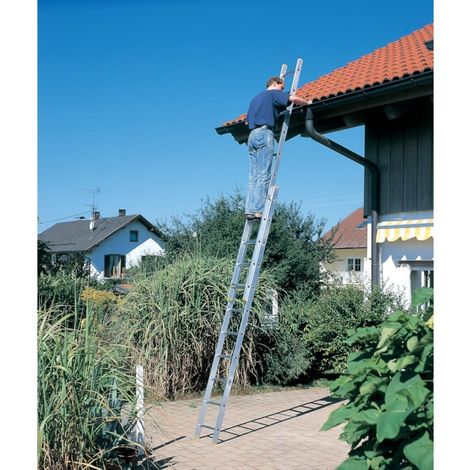 Escalera de corredera 150 kg 2x 9 peldaños
