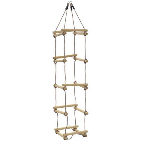 Escalera de cuerda para niños 200 cm madera