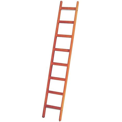 Escalera de peldaños de madera 8 peldaños
