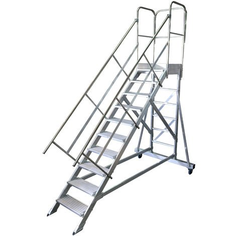 Escalera de plataforma de trabajo movil MAX 10 peldaños 45º ALMACÉN
