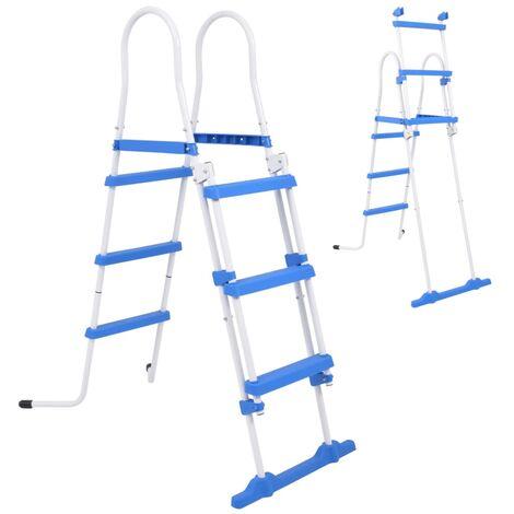 Escalera de seguridad de piscina elevada 3 peldaños 107 cm
