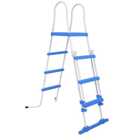 Escalera de seguridad de piscina elevada 3 peldaños 122 cm