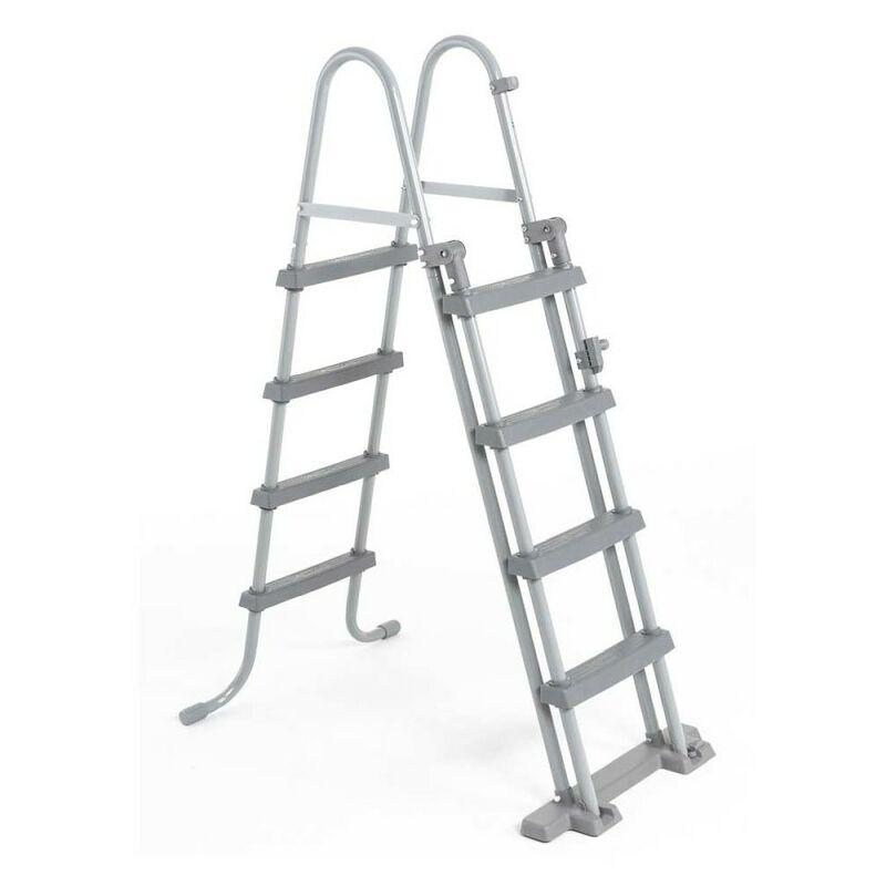GRÉ - Escalera de Seguridad de Tijera BestWay para piscinas 122 cm