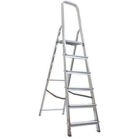 Escalera de tijera VERDE acero/aluminio 6m