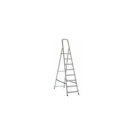 Escalera de tijera VERDE acero/aluminio 8m