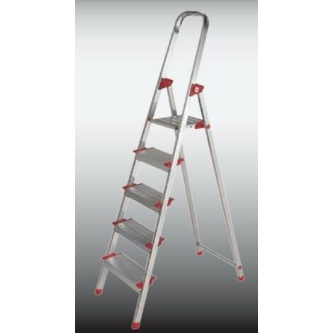 Escalera Dom Tijera 0,80mt 4 Peldaños Alu New Plus Ktl