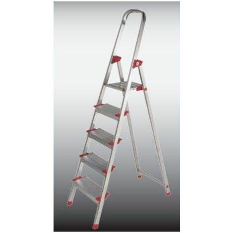 Escalera Dom Tijera 1,02mt 5 Peldaños Alu New Plus Ktl
