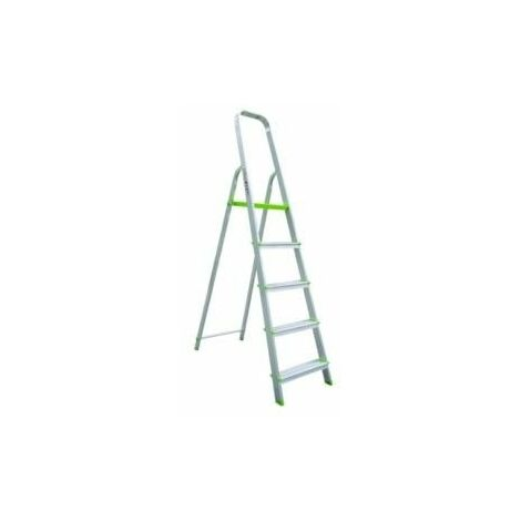 Escalera Dom Tijera 1,11mt 5 Peldaños B/baja Alu Vivahogar