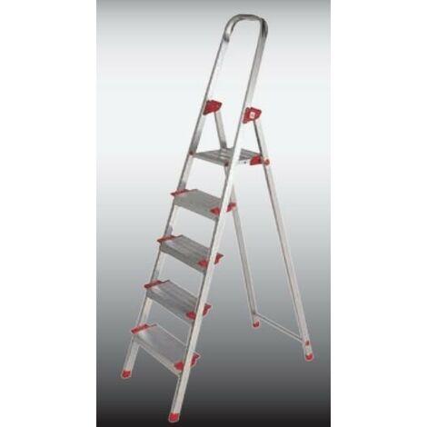 Escalera Dom Tijera 1,65mt 8 Peldaños Alu New Plus Ktl