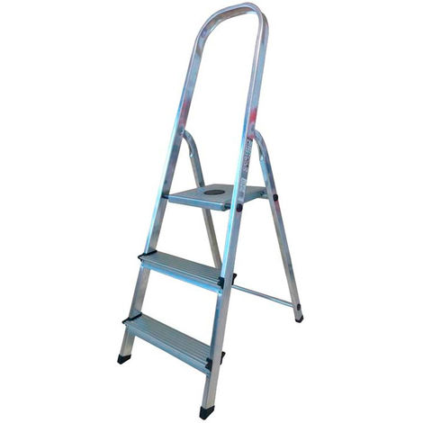 Escalera doméstica aluminio 3 peldaños