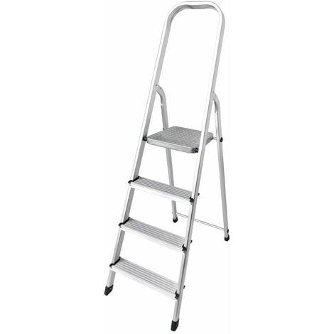 Escalera domestica aluminio 4 peldaños