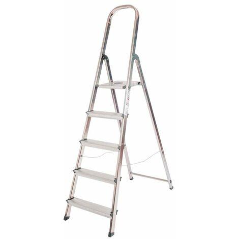 Escalera doméstica aluminio 5 peldaños