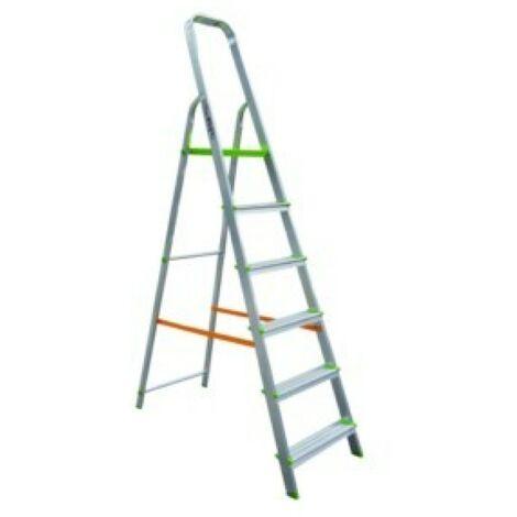 Escalera domestica aluminio 6 peldaÑos