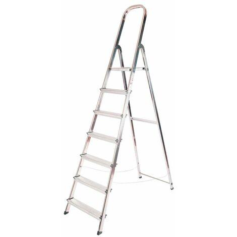 Escalera doméstica aluminio 7 peldaños