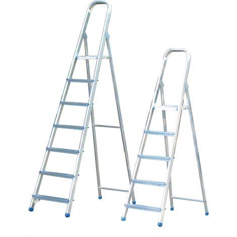 Escalera domestica alumino 5 Peldaños