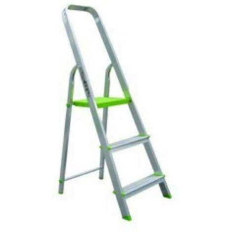 Escalera Domestica Barandilla Baja 3 Peldaños 0,62Mt Aluminio Vivahogar