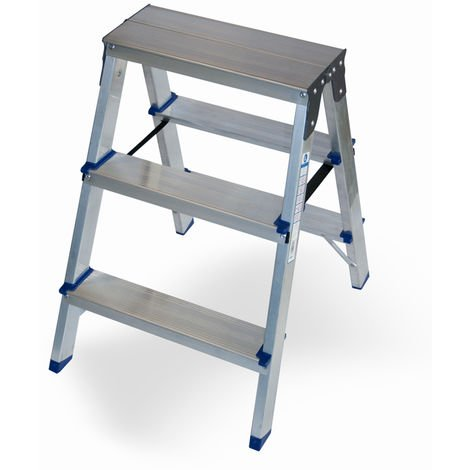 Escalera doméstica de Aluminio tijera doble acceso SERIE PAINT 2 x 3 peldaños